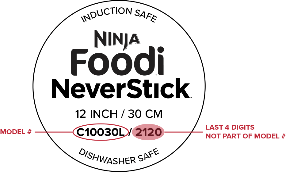 Cookware - Where to find the model number